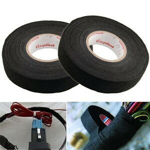 19mmx 15M Adhesive Cloth Fabric Tape Cable Looms Wiring Harness For Car Auto TDO