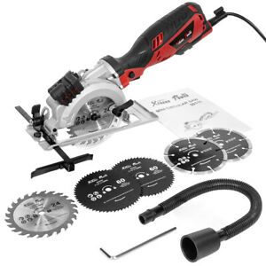 Electric compact Laser Circular Saw Hand Held Grinder Cutting Tool Kit 6 Blades