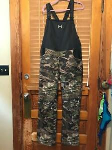 UNDER ARMOUR HUNT FOREST CAMO STORM MID SEASON BIB OVERALLS WOMEN NWT $169.99