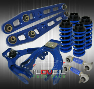 Blue Scaled Coilover Conversion + Front / Rear Camber Kit + Lower Control Arms