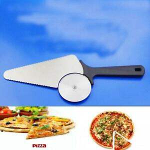 3 in 1 Pizza Cutter Wheel Stainless Steel Pie Pastry Cake Roller Slicer Tool QK