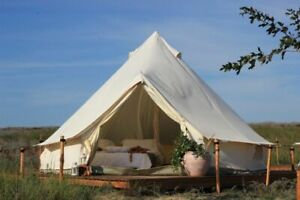 US Shipped Glamping 3M Canvas Bell Tent Yurt Or 3M PE Mat Tent Shelter Awning