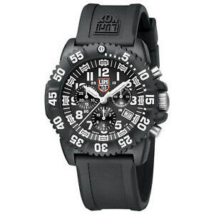 Luminox Men's Watch Navy Seal Colormark Chronograph Black Rubber Strap 3081