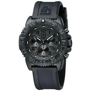 Luminox Men's Watch Navy Seal Colormark Chronograph Black Dial Strap 3081.BO