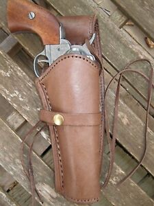 Western Express - Right Handed - Brown Smooth Leather Gun Holster - .22 .38 .45