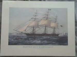 Lot of 3 vintage lithograph from Currier amp; Ives Farmers Home Clipper Ship Farm $24.99