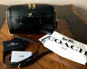 Sold Out NWT Coach 1941 Archival Design Black Leather JONI Crossbody Bag
