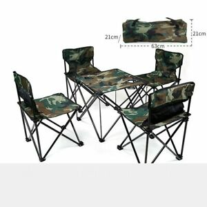 Outdoor Picnic Set Portable Folding Tables and Chairs for Camping  Folding