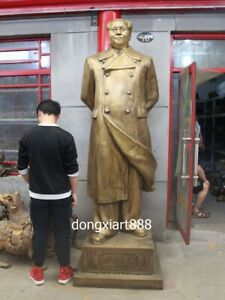 250 CM Bronze copper Chinese Red Revolution Great Man Chairman Mao Zedong Statue