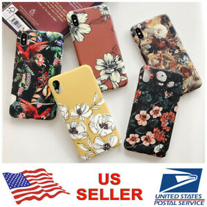 For iPhone XS Max XR X 8 7 6s Plus Cute Flower Patterned Girls Women Case Cover