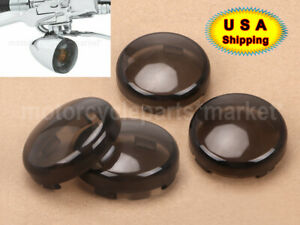 4x Smoke Turn Signals Light Lens Covers For Harley Street Road Glide 2004-2015