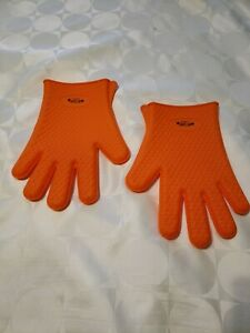 El Jeffe Silicone Gloves Mitts bbq baking heat resistant pair