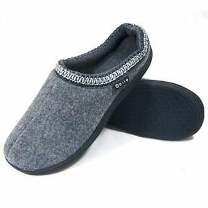 Men's Cozy Memory Foam Winter Bedroom Slippers Knitted Cotton Slipper 4 Colour