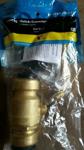 Watts Quick Connect 12 Inch Brass ball valve  NEW  PEX CPVC COPPER