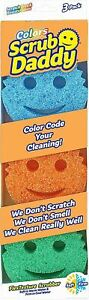 Scrub Daddy Colors FlexTexture Sponge- Odor Resistant, Scratch Free,  3ct