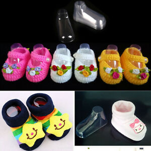 10x Plastic Foot Model Sock Molds Baby Booties Mould Shoes Sock Display Tool IJ