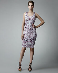 Alexander McQueen Purple Kaleidoscope Print Dress Size 40