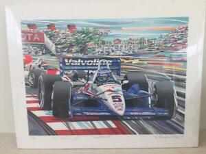 quot;Hat Trickquot; Limited Edition Serigraph by Randy Owens Signed by Al Unser Jr. $249.00