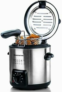 Ovente Electric Deep Fryer 0.9 L Stainless Steel Basket 840 W Silver FDM1091BR