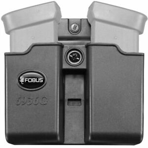 Fobus Double Mag Pouch Belt Fits For Glock 36 Black Ambidextrous 6936GNDBH
