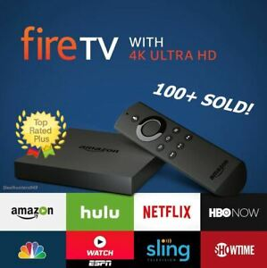 Amazon Fire TV Streaming Media Player w 4K Ultra HD Remote (2nd Gen) Black cube