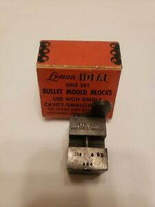 Lyman 358 bullet mould blocks mold casting lead vintage mold 358495