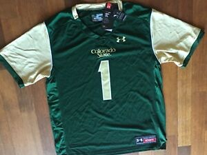 Youth X Large Colorado State University RAMS Under Armour Football Jersey NWT $32.99