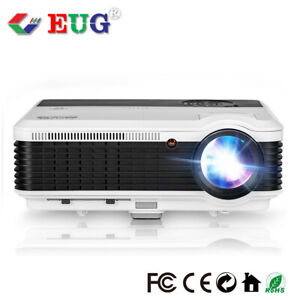 HD Video 1080P Projector Home Theater Game Movies LED LCD Display AVTVUSBHDMI