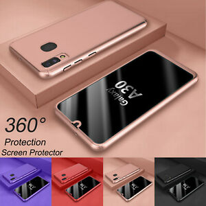 For Samsung Galaxy A20 A50 A30 360° Full Body Hard Case + Screen Protector Cover