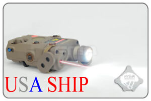 PEQ-15 Upgraded FMA Tan LED White Light + Red laser with IR Laser *USA SHIP*