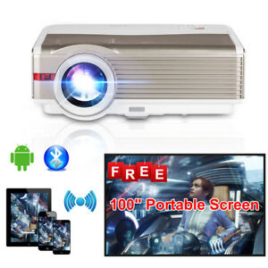 8000LMS HD LCD Android WIFI Home Theater Projector Bluetooth Airplay Miracast TV