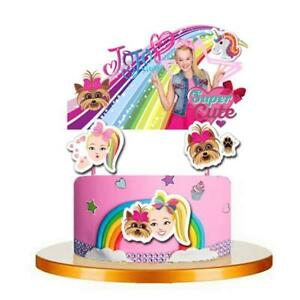 JOJO SIWA CAKE TOPPER TOPPERS CUPCAKE BALLOON SUPPLIES DECORATIONS CAKE BOX $11.99