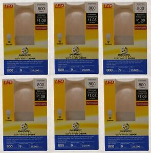 6 Energetic Lighting ELY09D-EAS-VB-6 A19 - 60W Equivalent LED Soft White (3000K)