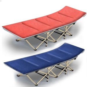 Portable Single Size Folding Bed Rollaway Cot Guest Sleeping with Mattress
