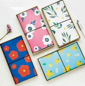 Natural PU Leather Cover Planner Notebook Diary Book Exercise Bullet Gift New