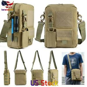 US Men Outdoor Military Tactical Bag Molle Waist Pack Hiking Hunting Camping Bag