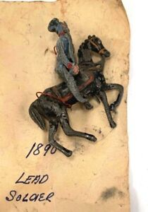 Antique Lead Soldier Toy.  1890s era.  Good condition.  Soldier on Horse.  Possi