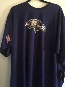 NIKE  Baltimore Ravens  Shirt Adult Large Purple Breast Cancer Dri Fit