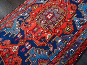Stunning C 1940 Vintage Antique Exquisite Hand Made Taroon Rug 3' 6