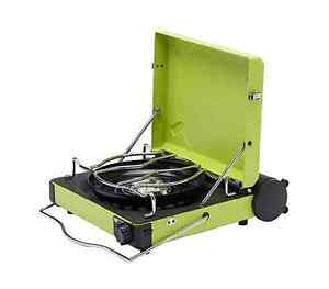 Iwatani cassette Portable gas stove green outdoor easy carry CB-MVS-1FG japan