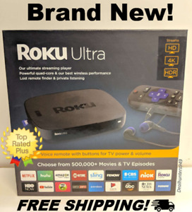 Roku 4660R 4K HDR Media Streamer with JBL Headphones  Black - Brand New!