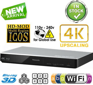 Panasonic Region Free Blu Ray Player Code Free DVD WIFI USB 3D 4k Upscaling