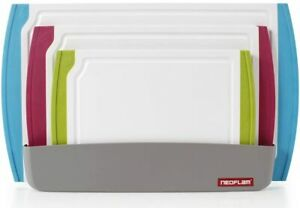 Neoflam Cutting Board Set Organizer Non Slip BPA free Antimicrobial Protection