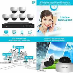 8 Channel Full HD 1080P Business & Home Security Camera System 6X True 2MP Poe W