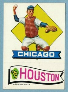 1974 Topps Baseball Action Emblem Sticker Test Issue Chicago amp; Houston