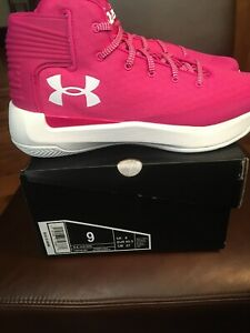 Under Armour UA 3Zero Pink  9 Men's Sneakers Shoes Stephen Curry