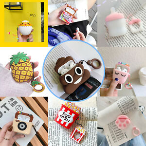 AirPods Silicone Case Cute 3D Solf Cartoon Cover Skin For AirPod Charging Case