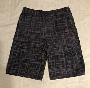 Under Armour Boys Youth Golf Shorts Black Gray YMD Medium $17.00