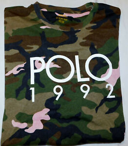 New Men's Polo Ralph Lauren Logo Camo Classic Fit SS T-Shirt Size 2XLT Tall