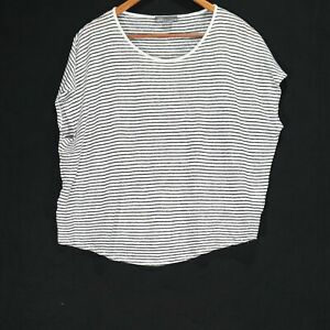 Vince Knit Striped T-Shirt - Size Small